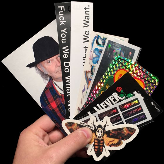 Image of 2015 SS Stickers (Neil Young/What We Want/Moth)