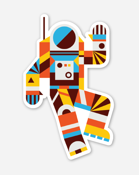 Image of Hello Spaceman Vinyl Sticker