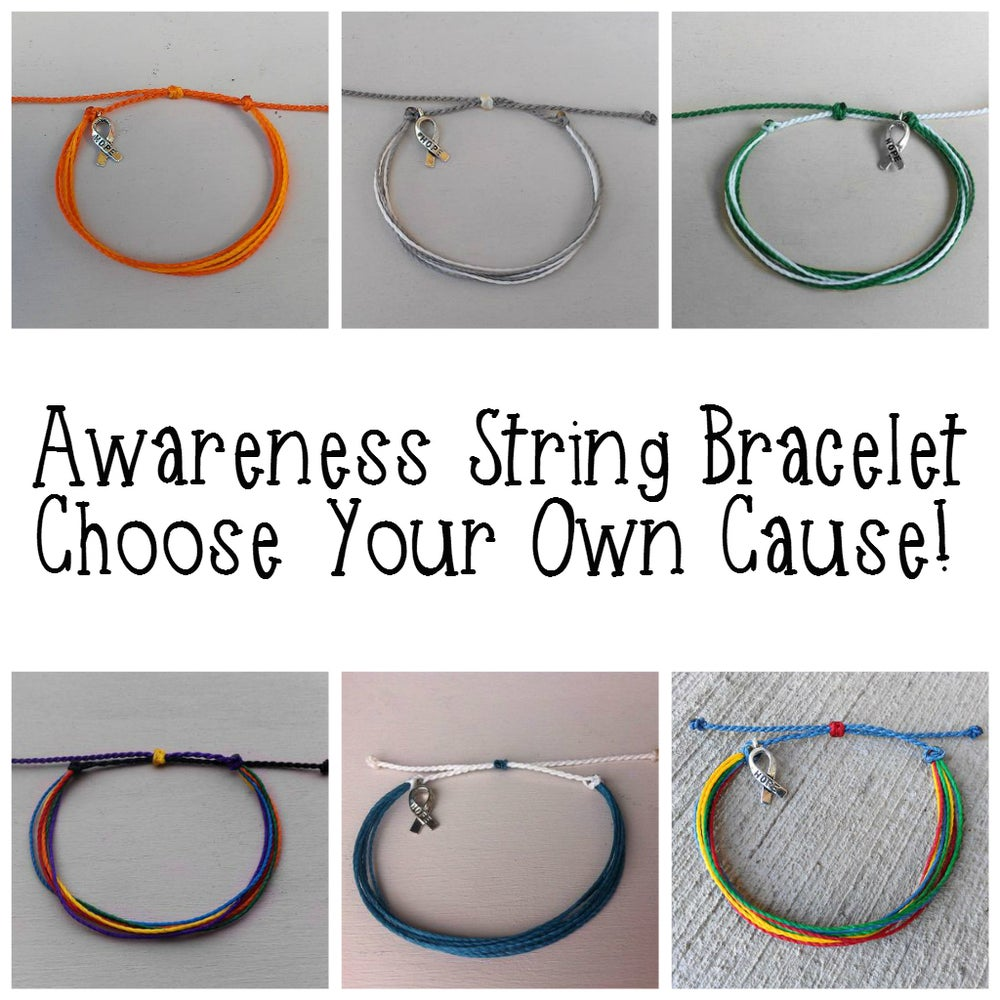 Image of AWARENESS STRING BRACELET - YOU CHOOSE YOUR CAUSE!