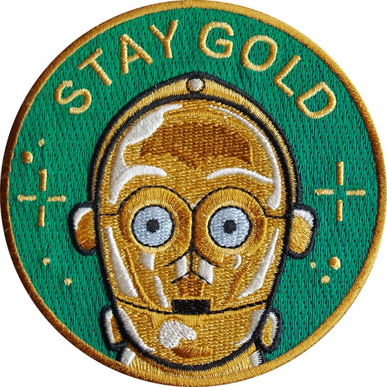 Image of Stay Gold patch by la barbuda