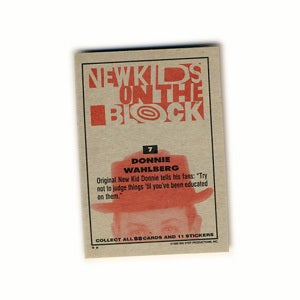Image of NEW KIDS ON THE BLOCK TRADING CARDS - 1989