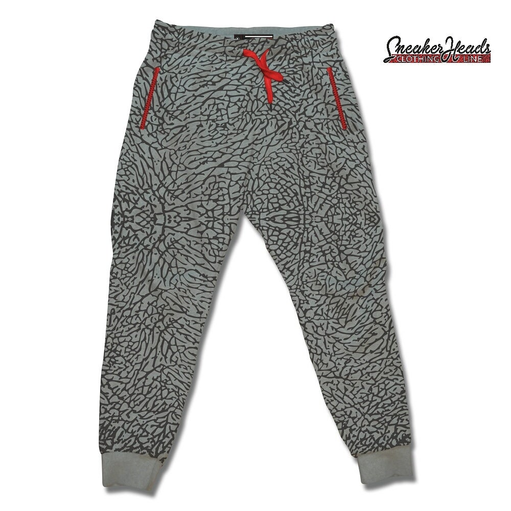 "Image of Youth/Kids Exclusive ""Elephant Print/Cement"" Custom Joggers"