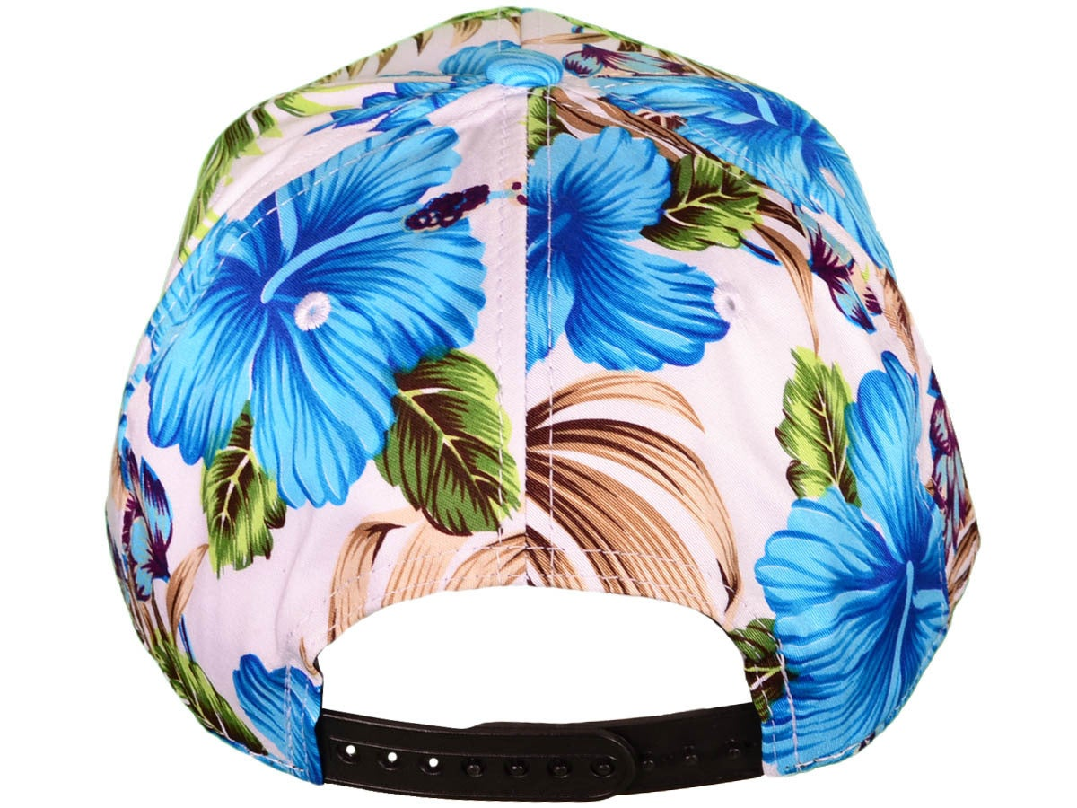 Image of MVA BLUE HAWAIIAN FLORAL 3D SNAPBACK HAT