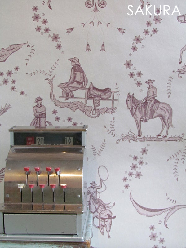 Image of Wallpaper Sample: Wild West Toile