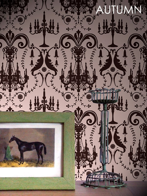 Image of Wallpaper Sample: Manor House Damask