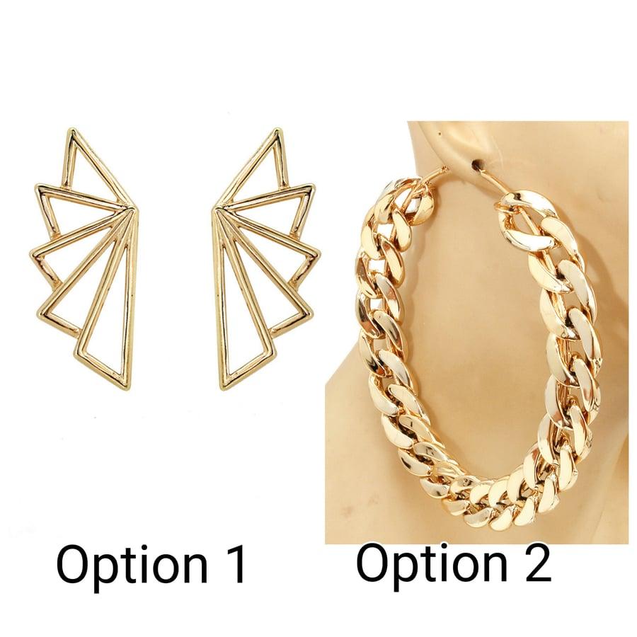 Image of Arcadia/Chain Hoop Earrings