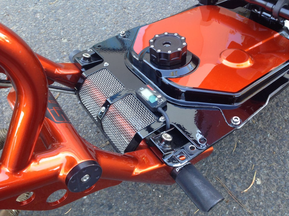 Image of Rear Tank Cover w/ Square Holes & Mesh Screen