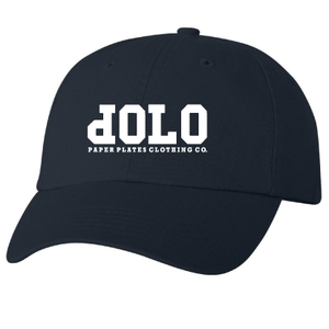 Image of PPCCO. 'dOLO' Unstructured Hat: Navy/ White