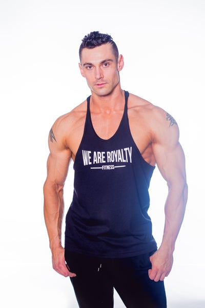 "Image of ""FITNESS"" STRINGER - BLACK"