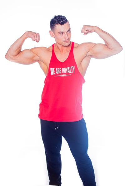 "Image of ""FITNESS"" STRINGER - RED"