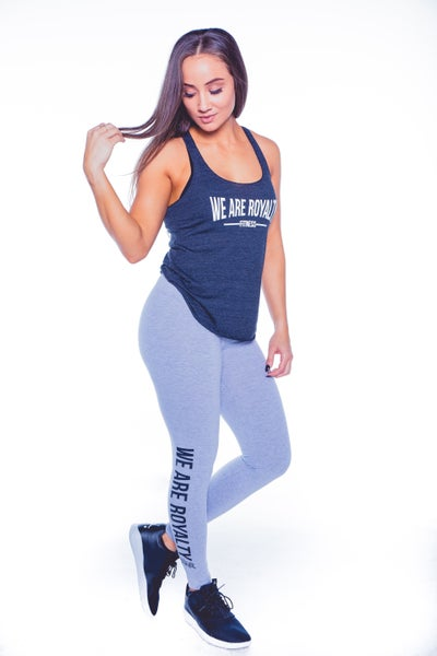 "Image of ""WE ARE ROYALTY"" JERSEY LEGGING - HEATHER GREY"