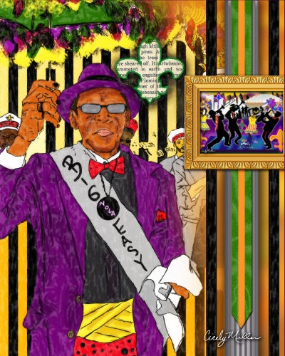 Image of Second Line- Grand Marshall (Art Cutting Board)