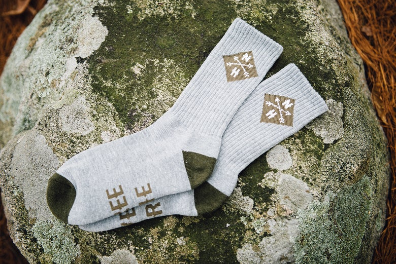 Image of Grey and Green Socks (1 pair)