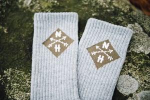 Image of Grey and Green Socks (1 pair)