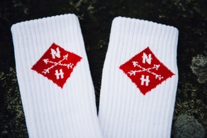 Image of Red and White Socks (1 pair)