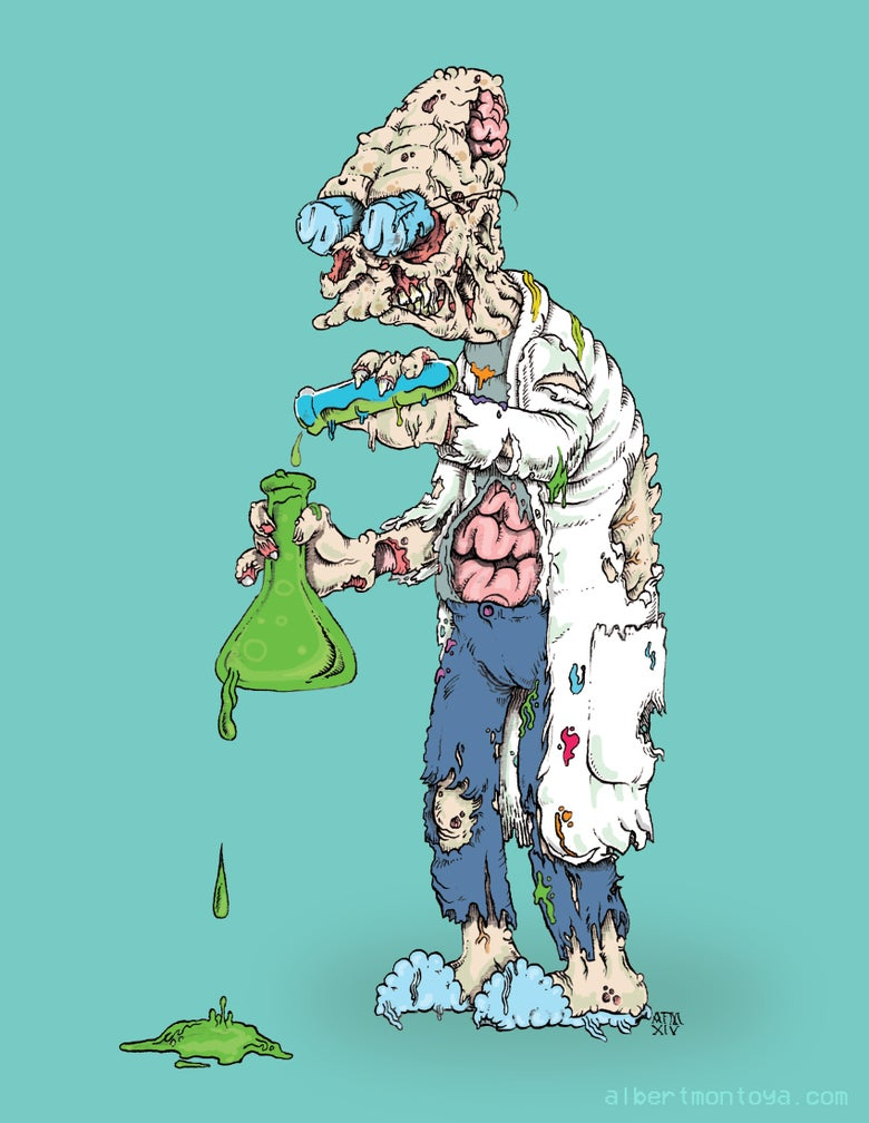 "Image of Print ""Professor Zombsworth"""