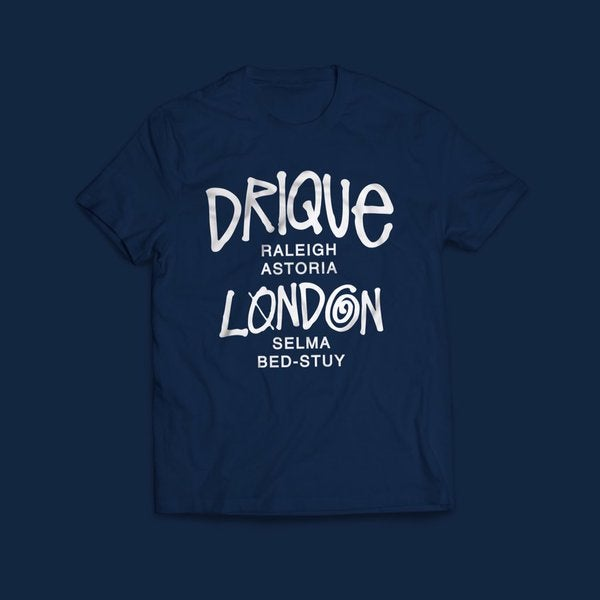 "Image of Drique London ""The Town"" Tee (Navy Blue)"
