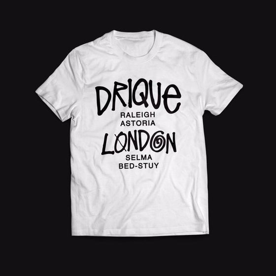 "Image of Drique London ""The Town"" Tee (White)"