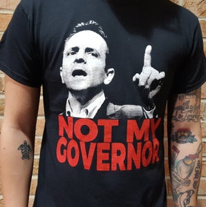 Image of Little Heart Records T-Shirt: Not My Governor