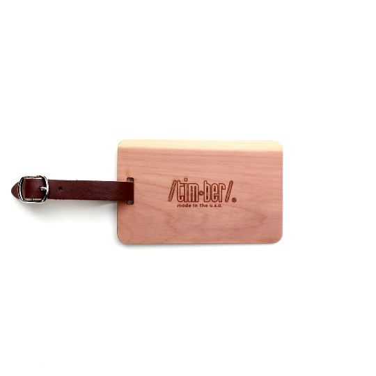 Image of Wood Luggage Tag by TIMBER