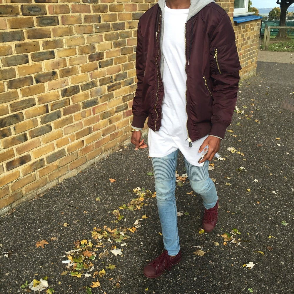 Image of White Long Line shirt with zips