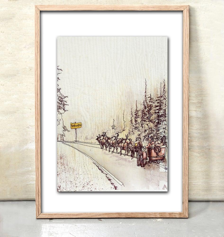 Image of Slow down Christmas - artcard