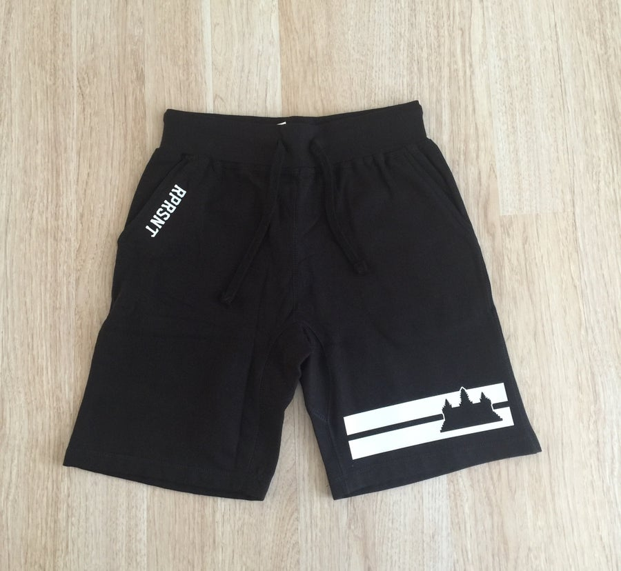 Image of Double Striped Fleece Shorts