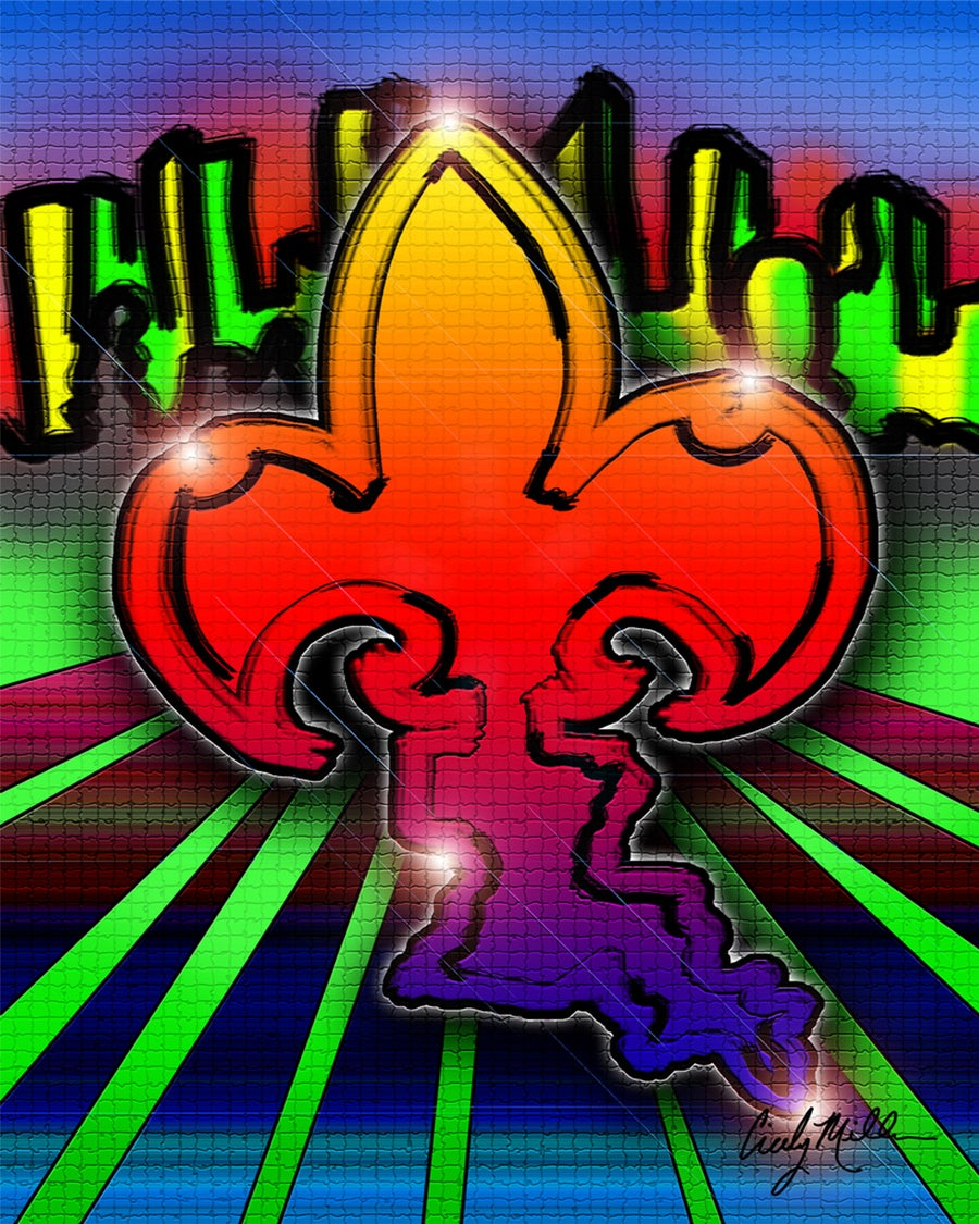Image of Graffiti Fleur de Lis