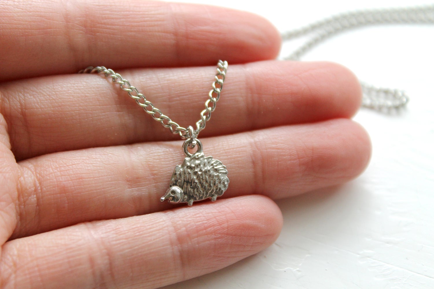 Image of Tiny Hedgehog Necklace (Originally $24)