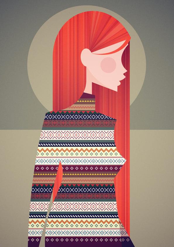 The girl in the Fair Isle sweater