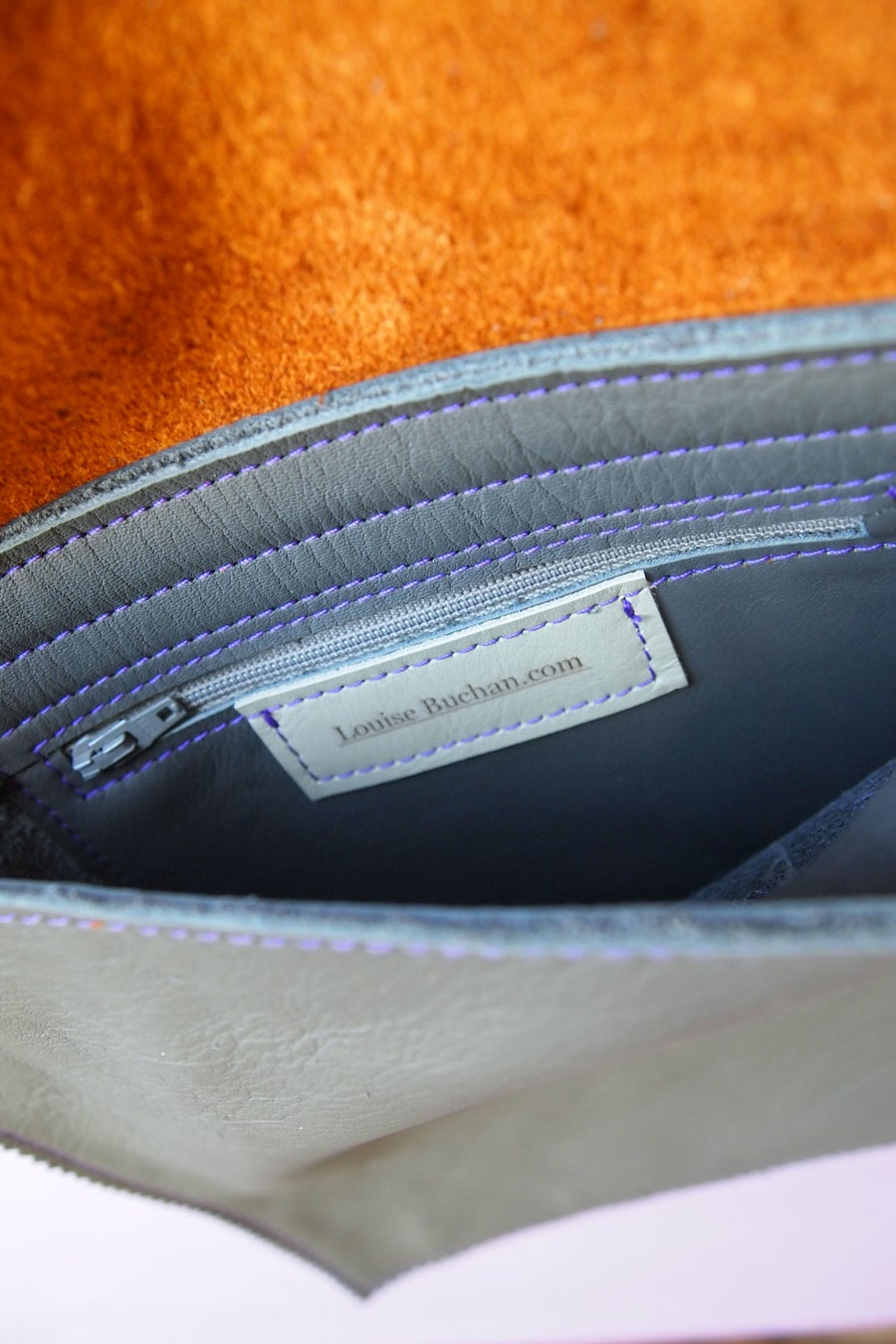 Image of Printed Leather Satchel