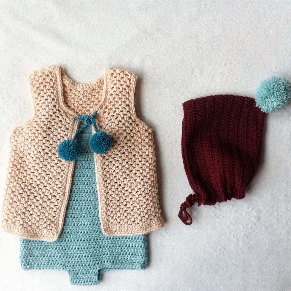 Image of Crochet Vest / Chaleco -soft wool-