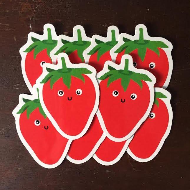 Image of Strawberry Sticker Pack (15+ count)