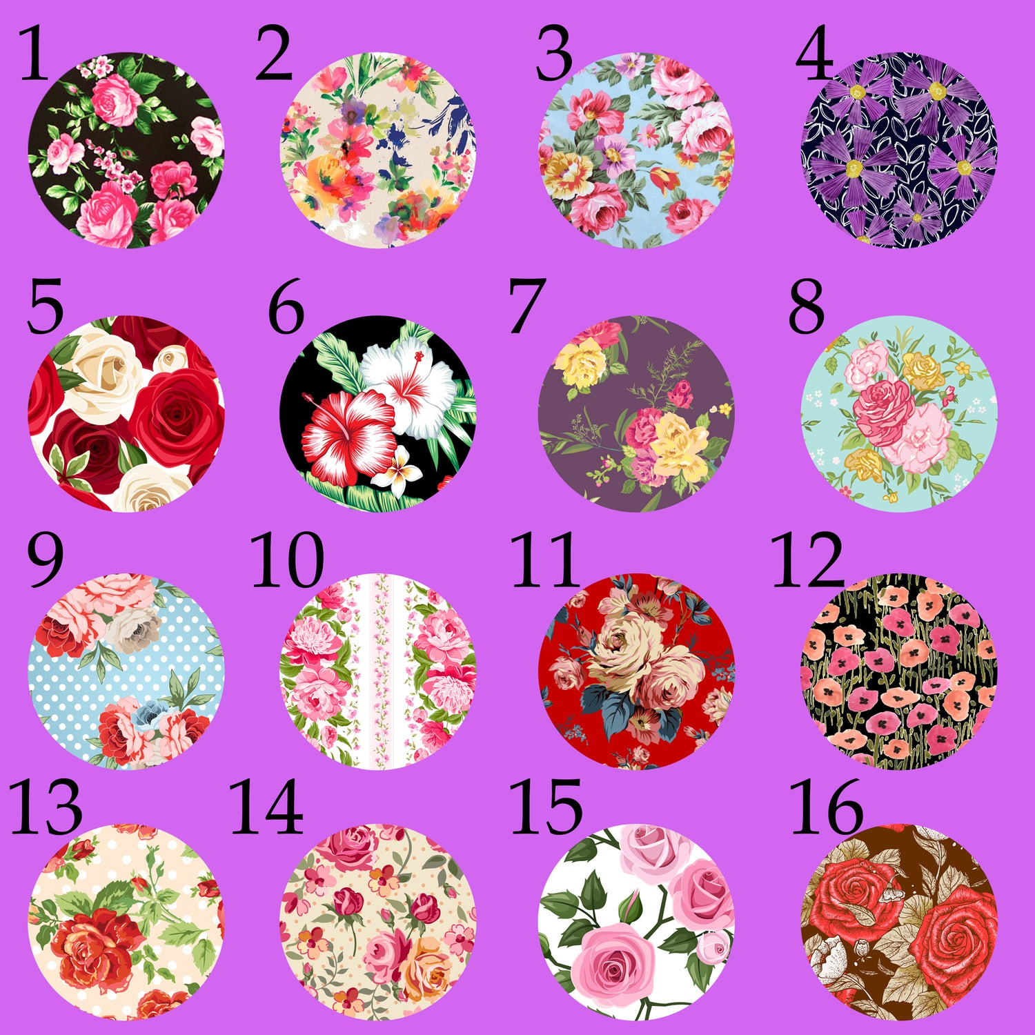 "Image of Floral Print Plugs 1 (sizes 2g-2"")"