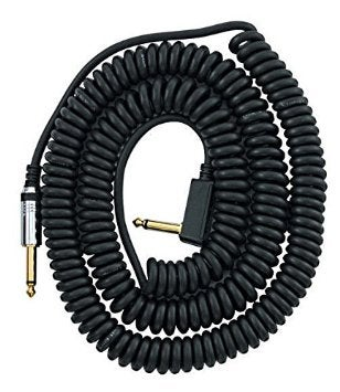 Image of VOX VCC090BK 29.5-Feet Coiled Right Angle Stereo Guitar Instrument Cable, Black