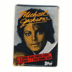 Image of MICHAEL JACKSON TRADING CARDS AND STICKERS - 1984