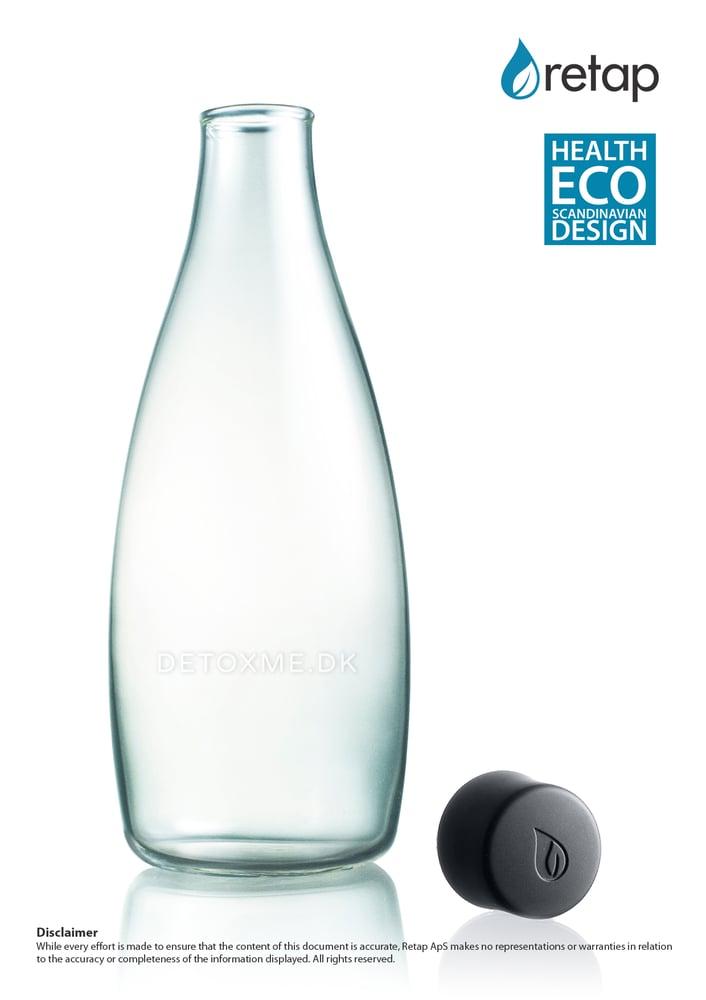 Image of Detoxme glasflaske 0,8 Liter.