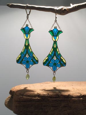 Image of Plique-a-Jour Enameled Earrings