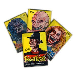 Image of 80s HORROR MOVIES - FRIGHT FLICKS CARDS - 1988