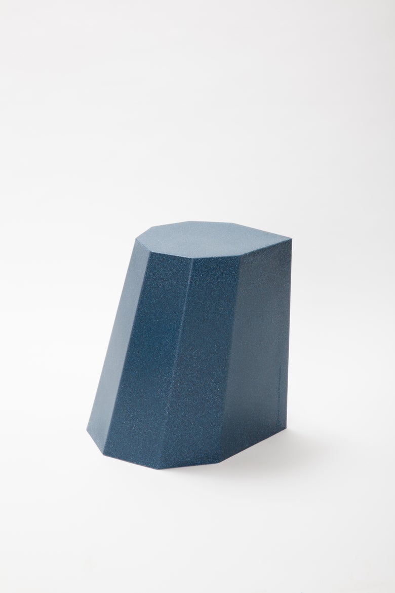 Image of Arnold Circus Stool - Blue Mottle