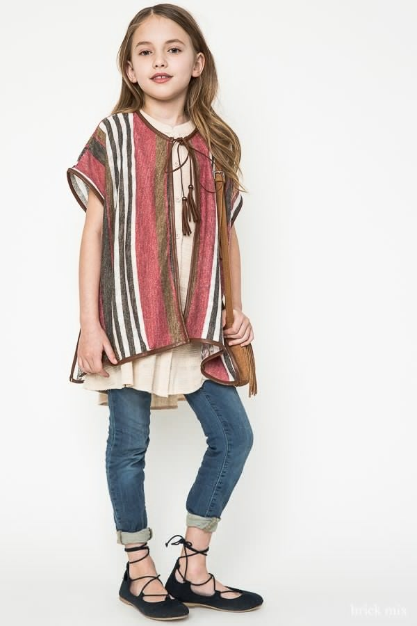Image of Stripe Poncho