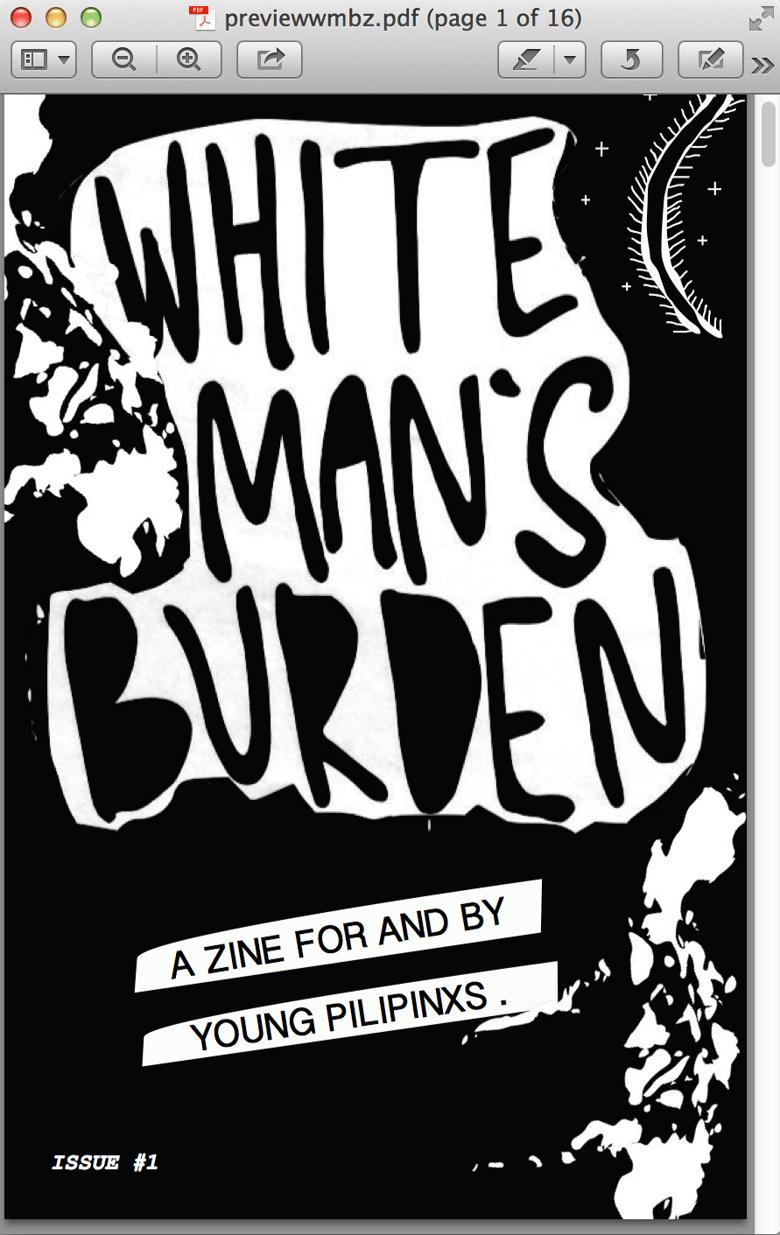 Image of White Man's Burden Issue #1 (e-zine download)