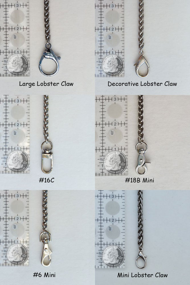 "Image of NICKEL Chain Luxury Handbag Strap - Braided Chain - 1/4"" (6mm) Wide - Choose Length & Hooks/Clasps"