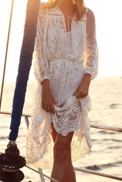 Image of FASHION HOT LACE LONG DRESS
