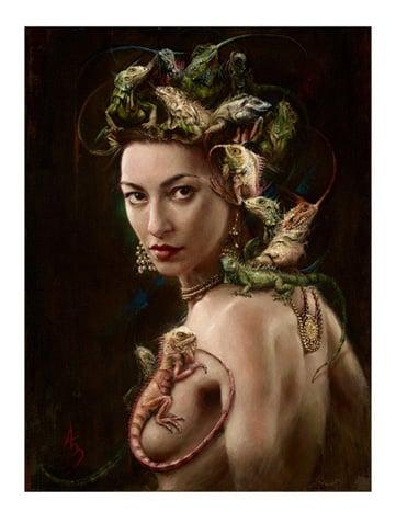 Image of Alexandra Manukyan  'Amfibien Goddess' giclée print