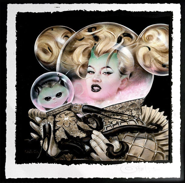 Image of Olivia 'Boo and Giafant' giclée Print & original available