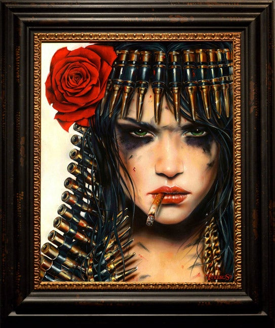Image of Brian Viveros 'Cleopatra' wood print