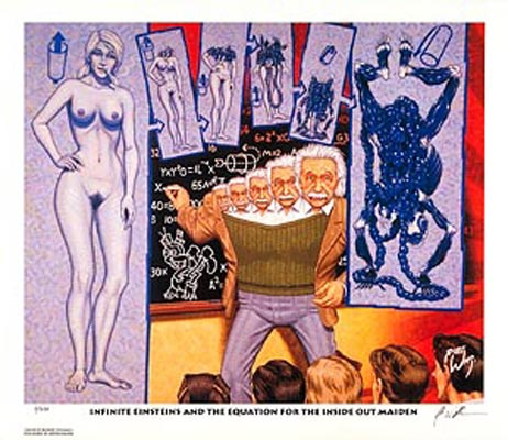 Image of ROBERT WILLIAMS  'Infinite Einsteins and the...' lithograph print