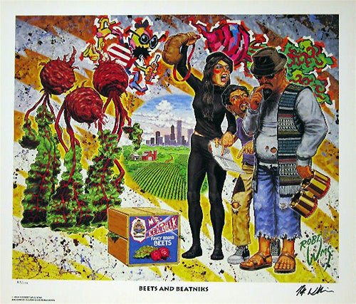 Image of Robert Williams 'Beets and Beatnik' signed lithograph