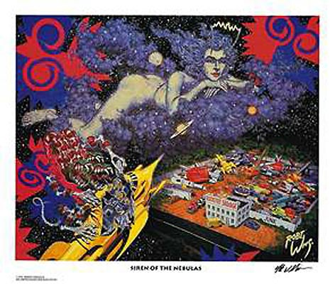 Image of Robert Williams 'Siren of the Nebulas' lithograph print
